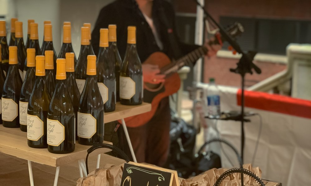 Wine and Guitar Player